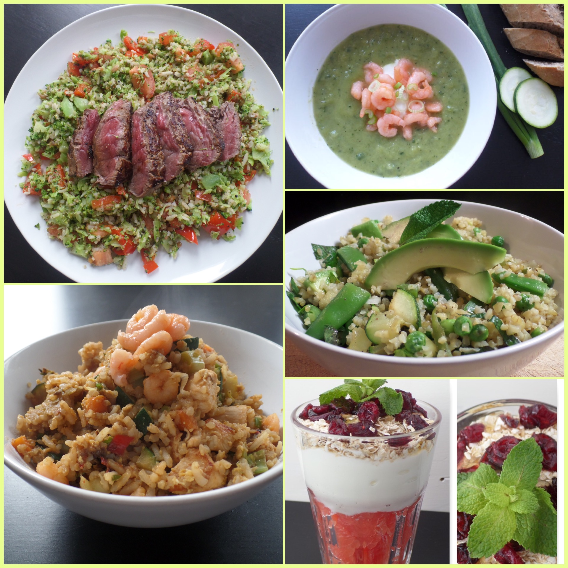 Weekmenu broccoli, kip & garnalen